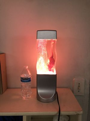 Lava lamp glitter lamp combo- pink for Sale in Parma Heights, OH