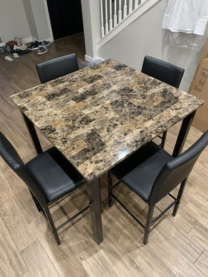 Bar Height Kitchen Table and Chairs for Sale in Houston, TX