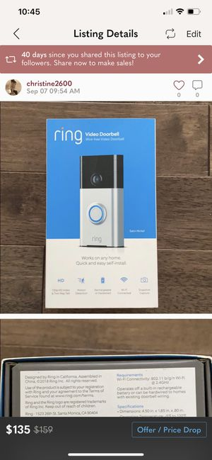 Ring Door Bell for Sale in Port Washington, NY
