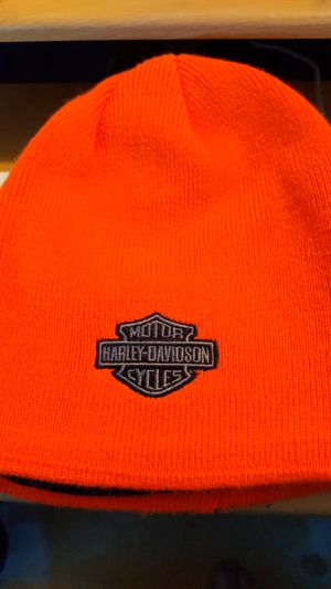 Harley Davidson orange knit hat for Sale in Neenah, WI