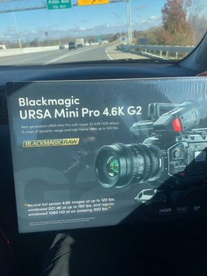 Black magic ursa mini pro3.6k G2 for Sale in Detroit, MI