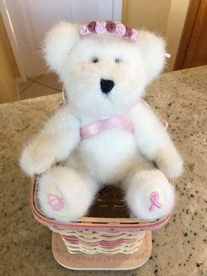 2004 LONGABERGER Horizon of Hope Bear Angel and Basket w/ Lid. Basket is 6 inch tall, Bear is 8-1/2 inch tall. for Sale in San Diego, CA