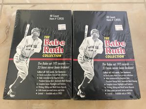 (2)1992 THE BABE RUTH COLLECTION Factory Sealed Box 96 Packs Baseball Cards LOT of 2 New $120 for Sale for sale  Lakeland, FL