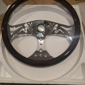 """18"""" Big Rig Wood Steering Wheel Volvo Kenworth Peterbilt Volvo for Sale in Pomona, CA"""