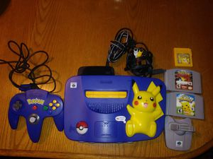 Nintendo 64 Pokemon edition with games 200 firm for Sale in Erie, PA