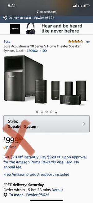 Bose speakers $300 for Sale in Fresno, CA