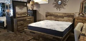 Rustic Ashley King 4pc Bedroom Set with Storage for Sale in Woodbridge, VA