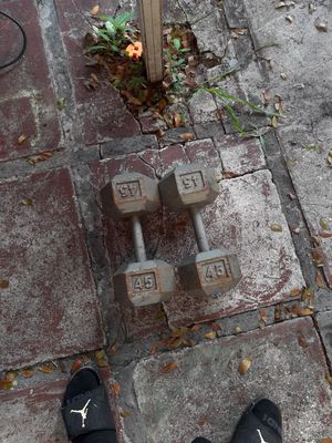 45 lb dumbbell set for Sale in Hollywood, FL