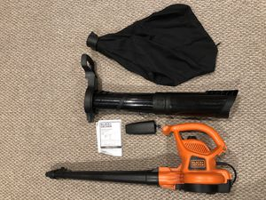 Leaf blower (almost never used) with vac/mulcher Black and Decker for Sale in Annandale, VA