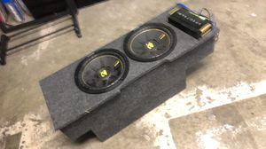 12 in kickers w/ 2000 watt amp an custom box for Sale in Tracy, CA