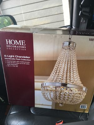 Home Decoration Collection 6 Light Chandelier for Sale in St. Louis, MO