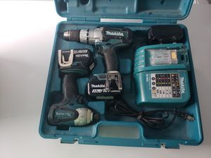 Makita LXT218 Heavy Duty 3.0a Hammer Drill Driver Set for Sale in Coral Springs, FL