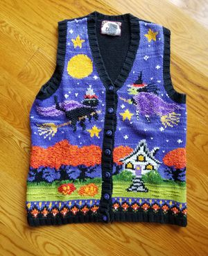 Vintage Tiara Halloween knit sweater vest for Sale in Crown Point, IN