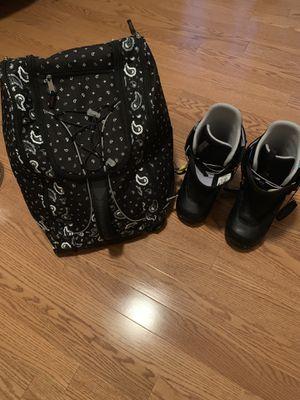 Burton Mint snowboard boots size 8 black $155 obo for Sale in Tampa, FL