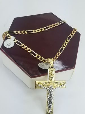 Cadena en Oro 10K con Jesús en La Cruz para Hombre for Sale in Los Angeles, CA
