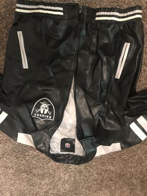 Leather Oakland Raiders Jacket for Sale in Elk Grove, CA