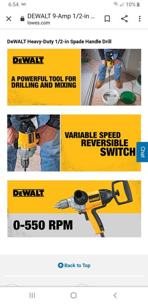 dealt 1/2 spade drill us ed for Sale in San Jose, CA