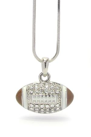 FOOTBALL Crystal Pendant Necklace *See My Other 500 Items* for Sale in Palm Beach Gardens, FL