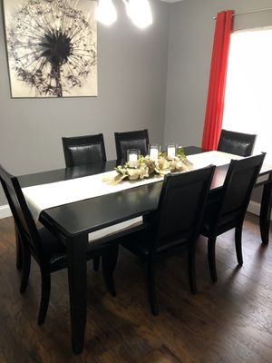 Dining Table 6 chairs and Server - Cappucino color for Sale in Brandon, FL