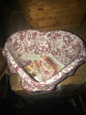 Longaberger heart shaped basket for Sale in Stockton, CA