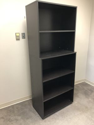 IKEA bookshelves coffee brown 31.5 inches wide 18 inches deep adjustable shelves for Sale in Beaverton, OR