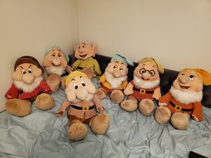 Disney 7 dwarfs plush dolls - Large for Sale in Sarasota, FL