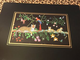 Vintage Jungle Print With 6 Placemats for Sale in Indianapolis,  IN