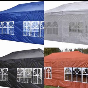 10x20ft POP UP CANOPY TENT WITH SIDE WALLS Available In Different Colors for Sale in Pomona, CA