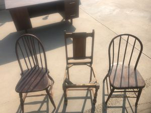 Wood chairs. for Sale in Sanger, CA