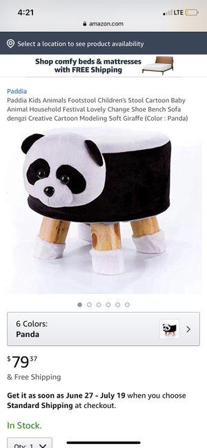 Small panda stool for Sale in San Bernardino, CA