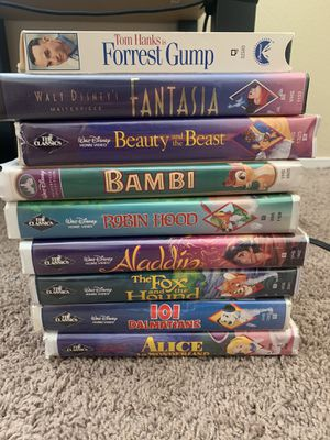 Classic Disney Vhs tapes and Forrest Gump for Sale in Las Vegas, NV