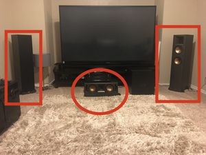 Klipsch Front and Center Channel Speakers for Sale in Cedar Park, TX