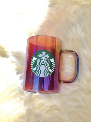 Starbucks holiday iridescent glass mug for Sale in Avocado Heights, CA