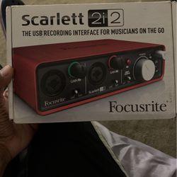 Scarlett Focuseite 2i2 Recording Interface for Sale in Corona,  CA