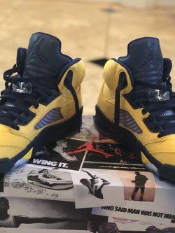 Jordan 5 Michigan Size 11 for Sale in Upper Marlboro,  MD