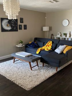 West Elm Grey Sectional for Sale in Orlando,  FL