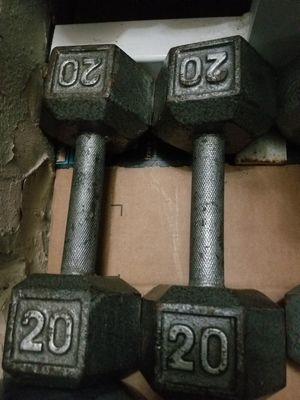 Pair of 20 lbs dumbbell for Sale in Fort Lauderdale, FL