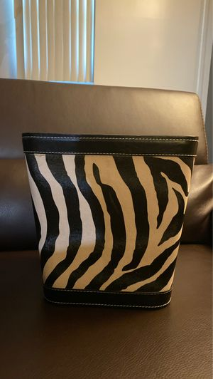 Home Decor Zebra Container/ Storage Garbage Can for Sale in Downers Grove, IL