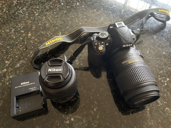 Nikon D3100 camera with zoomed my lense