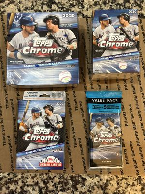 Topps 2020 chrome baseball cards for Sale in Apex, NC