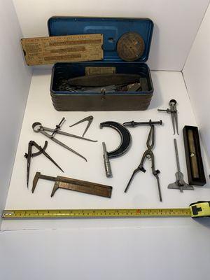 Box of engineering/draftsman (?) tools? for Sale in St. Petersburg, FL
