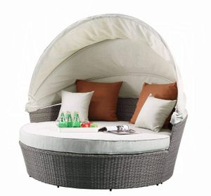 Patio Canopy Sofa & Ottoman DAYBED OUTDOOR FURNITURE SEATING for Sale in Ontario, CA