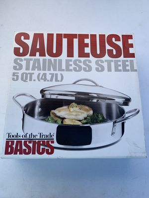 Sauteuse stainless steel 5QT (4.7L) for Sale in Stoughton, MA