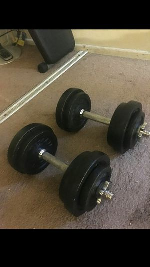 30lb each, adjustable dumbbells. for Sale in Whittier, CA