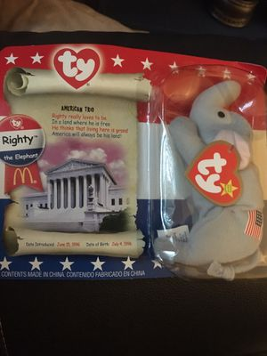 AMERICAN Trio Elephant Beanie Baby for Sale in Mission Viejo, CA