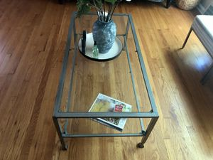 Glass Grey Coffee Table for Sale in Cleveland, OH