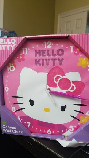 New in box hello kitty canvas wall clock for Sale in Clarksburg, MD