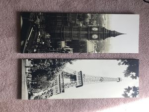 Big Ben & Eiffel Graphic Pictures for Sale in Ashburn, VA