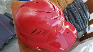 Baseball helmet and gloves for Sale in Los Angeles, CA