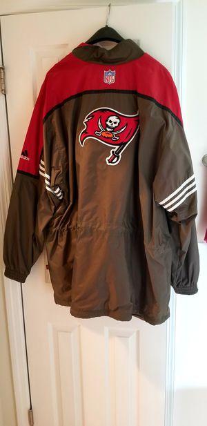 Buccaneers Men's NFL Pro Line Authentic Adidas Jacket-Size XXL-Windproof/Raincoat/Long Jacket for Sale in Tarpon Springs, FL